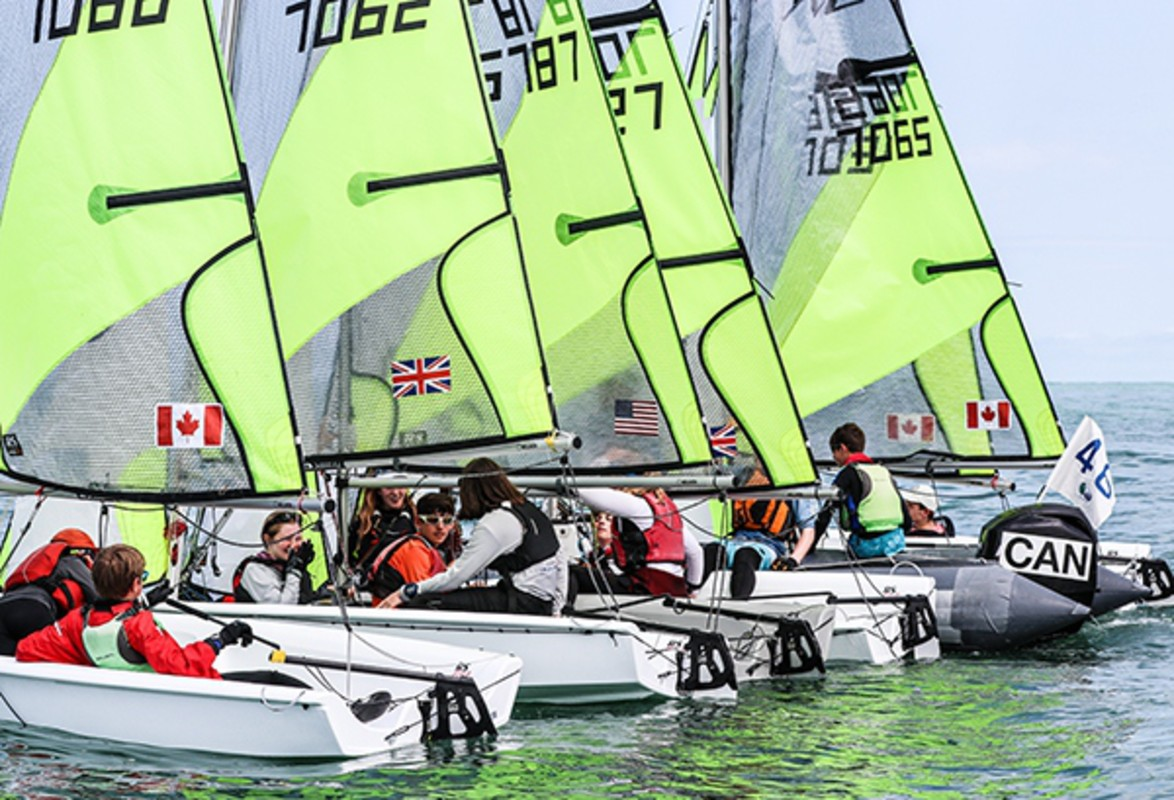 Light breeze on Final Day of RS Feva Worlds