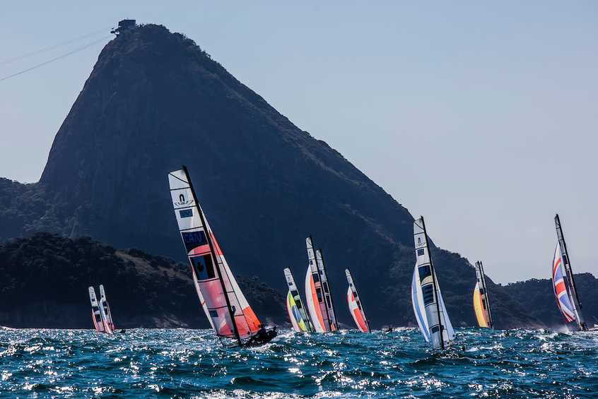 Nacra 17 Medal Race Line Up