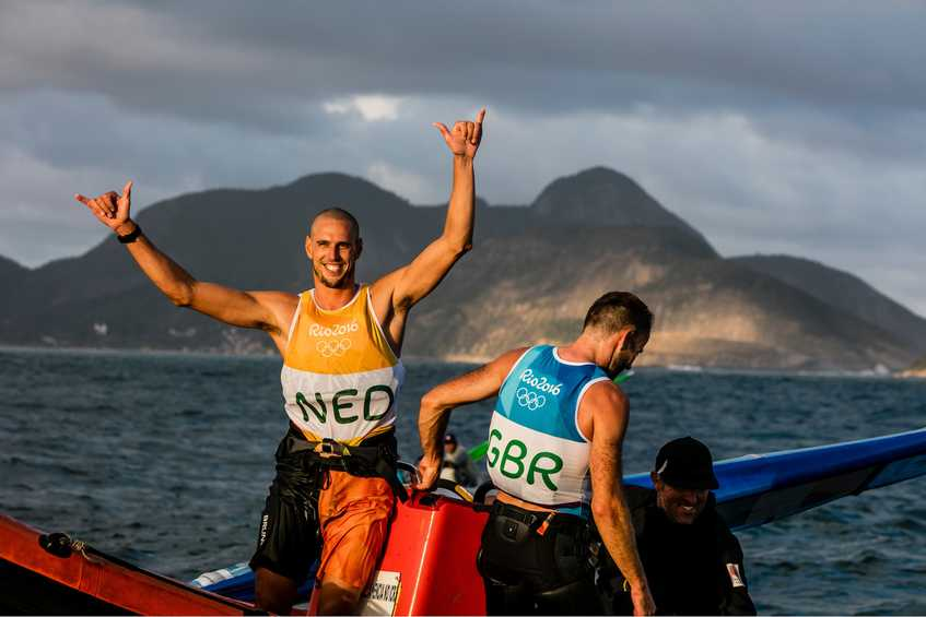 Netherlands and Great Britain wrap up gold and silver in Men's Windsurfer