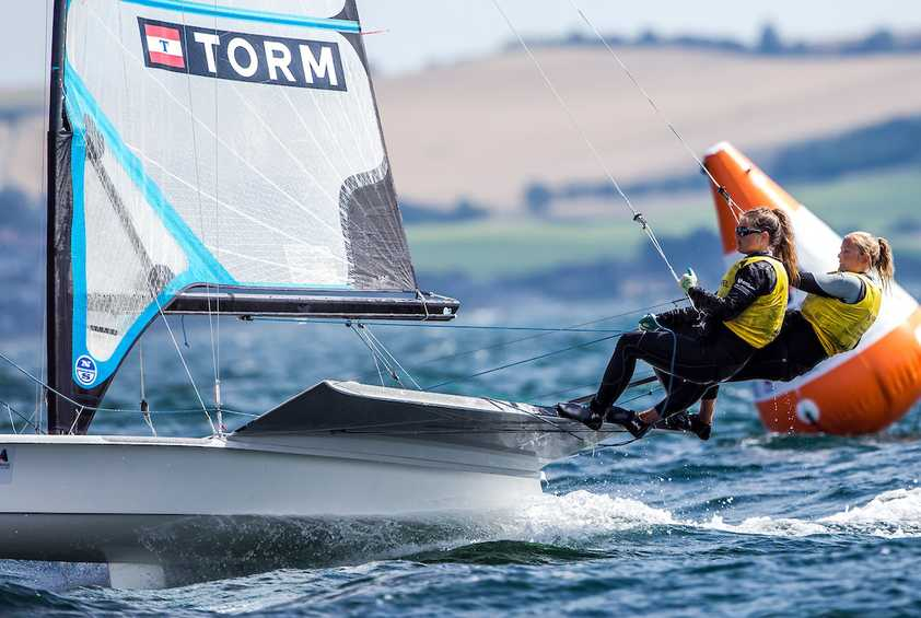 Danes lead on home waters at Aarhus 2018 Test Event