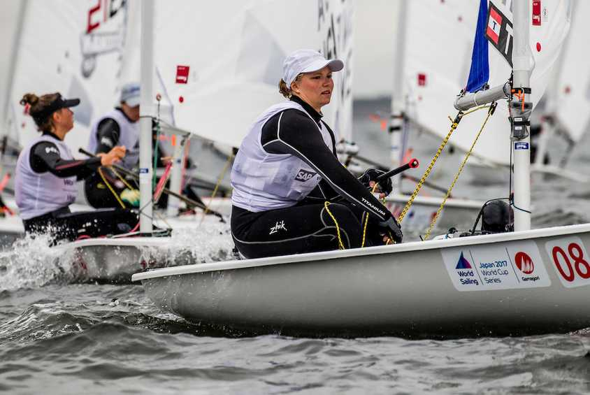Sailors battle on opening day of World Cup Series Japan