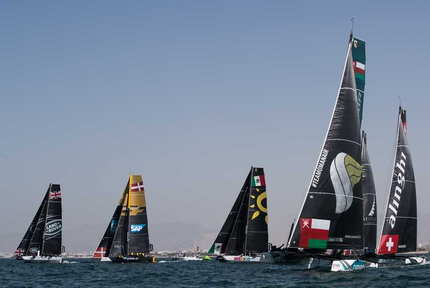 Extreme Sailing Series veterans and victors given a run for their money on day two of Act 1, Muscat