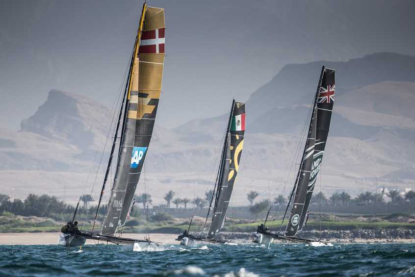 Two teams retire from penultimate day of the 2018 Extreme Sailing Series following collision