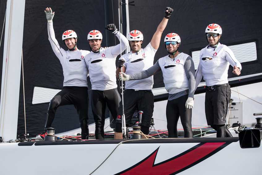 Alinghi crowned champions of 2018 Extreme Sailing Series Act 1 as SAP Extreme Sailing Team fall at the final hurdle