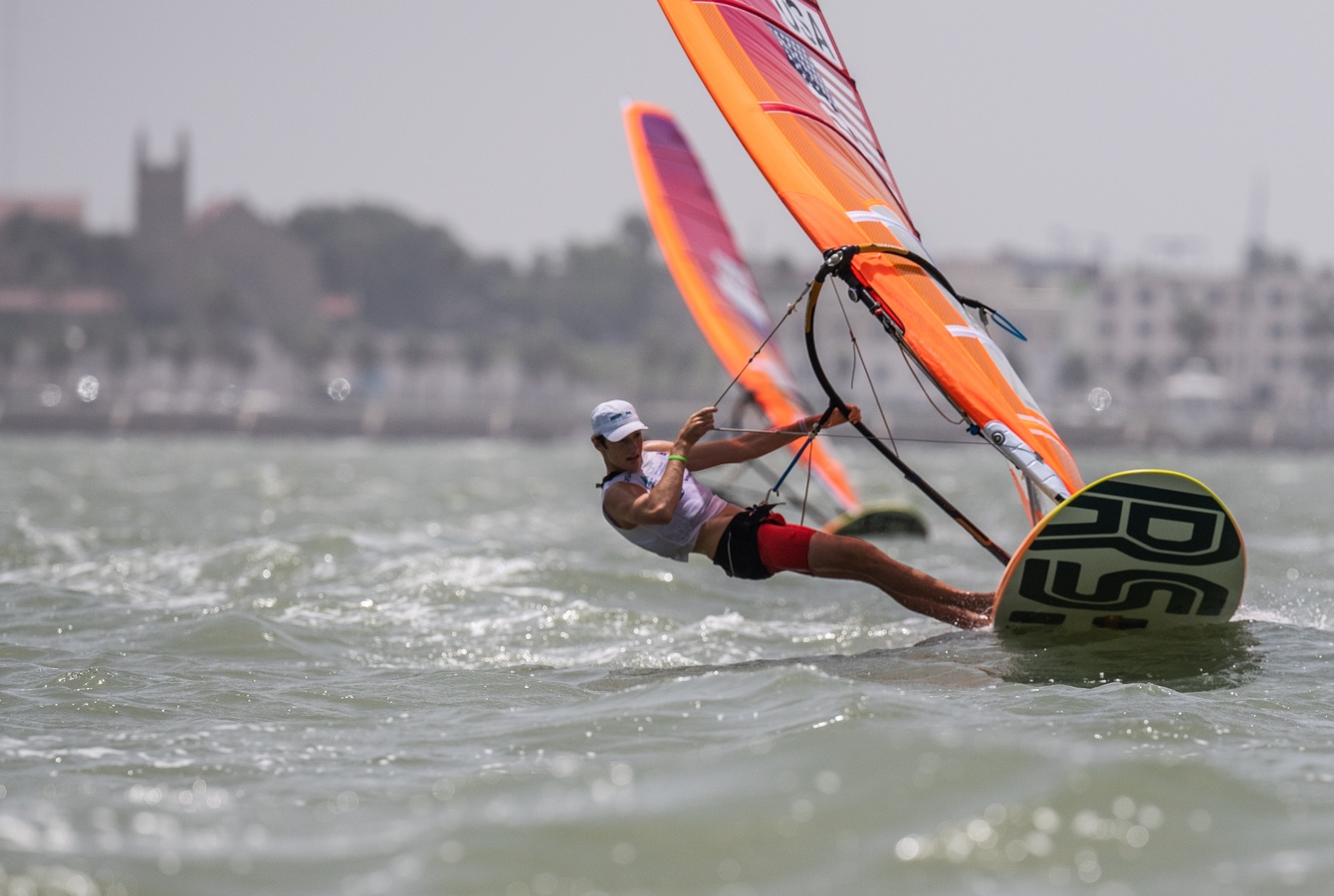 Team USA streaks to lead three classes at the Youth Sailing World Championships