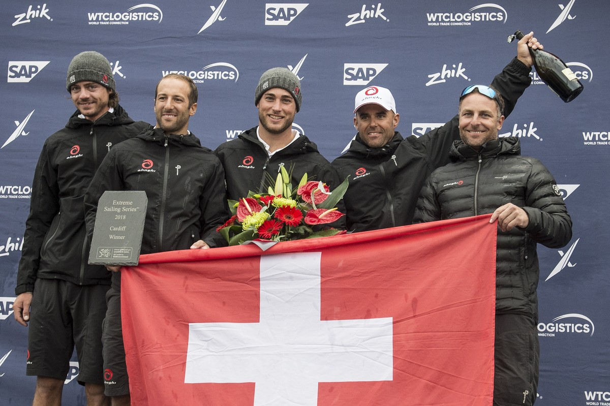 Swiss seize success from clutches of the Danes in Extreme Sailing Series Cardiff final