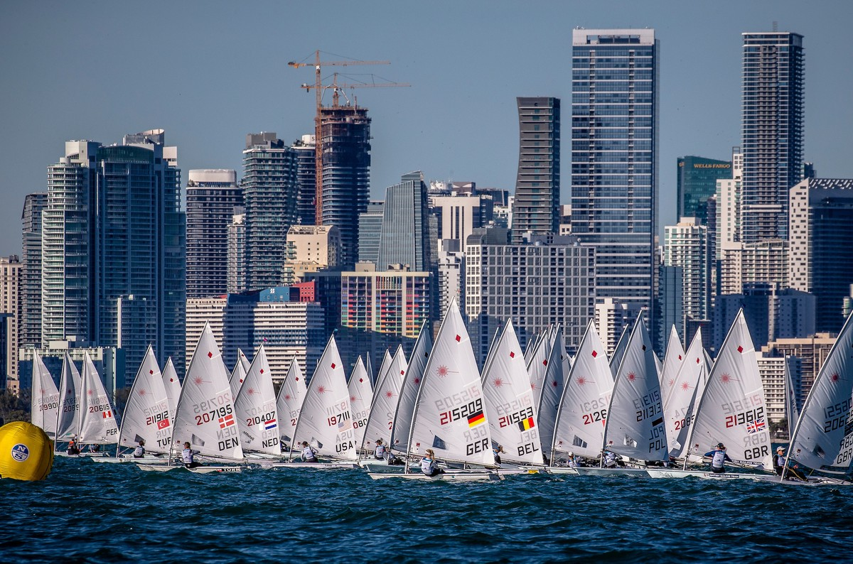 Racing under the Miami skyline