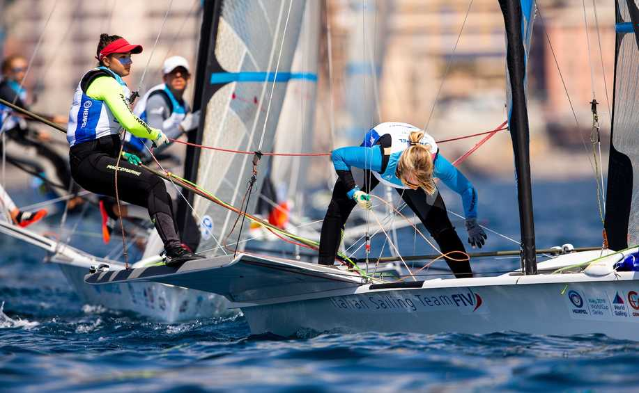 Scene set for 49er, 49erFX and Nacra 17 Medal Races