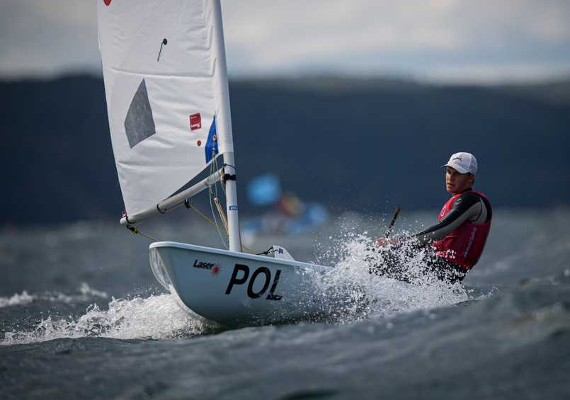 Gdynia's Butowski shines on home waters at the Hempel Youth Sailing World Championships