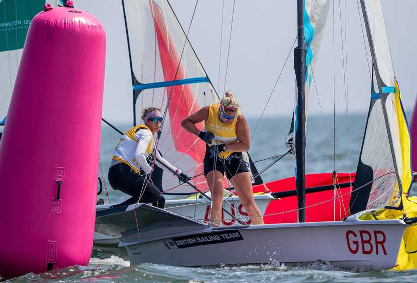 Contrasting conditions test sailors on Day 2 of Ready Steady Tokyo