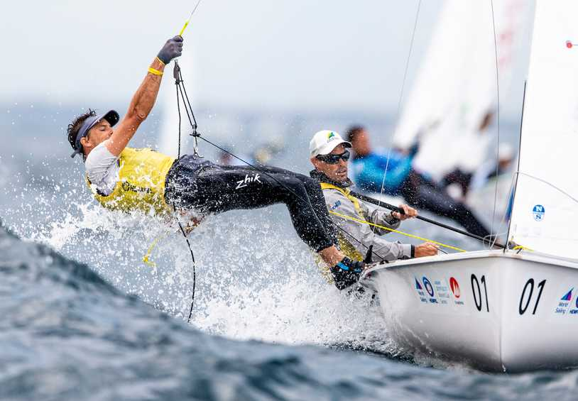 Familiar fight in the Men's 470 at Hempel World Cup Series Enoshima