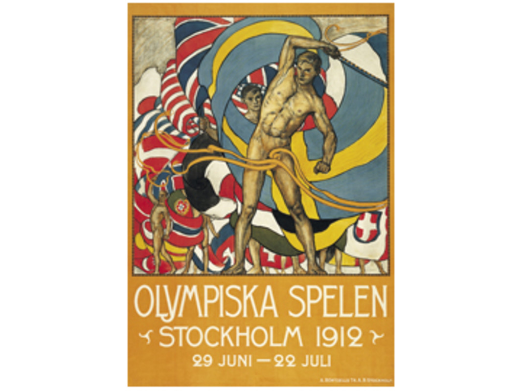 Stockholm 1912 Olympic Games Poster