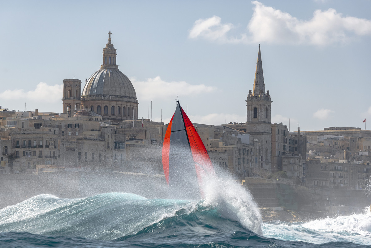 The Rolex Middle Sea Race finishes off the Maltese capital Valletta and the entrance to Marsamxett Harbour