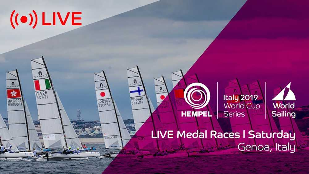 Hempel World Cup Series Genoa - Medal Races Live.