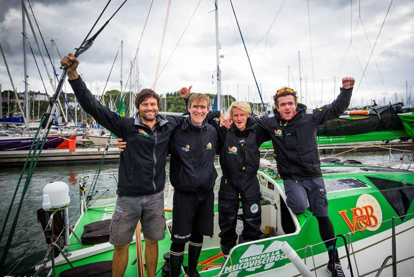 V and B prevails in the Class 40s - Rolex Fastnet Race