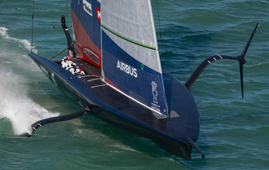 New York Yacht Club American Magic set the early pace at the PRADA ACWS Auckland
