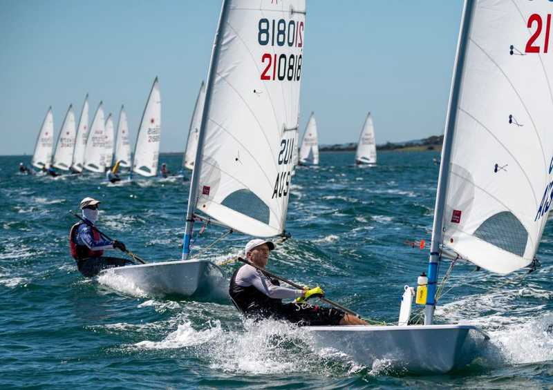 A tough final day for Laser Masters sailors in Geelong