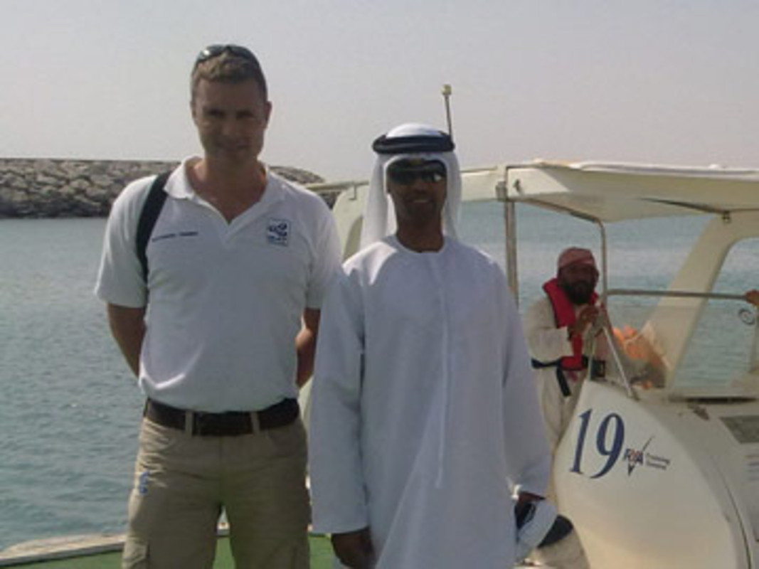Dan Jaspers (l), ISAF Training and Development Manager