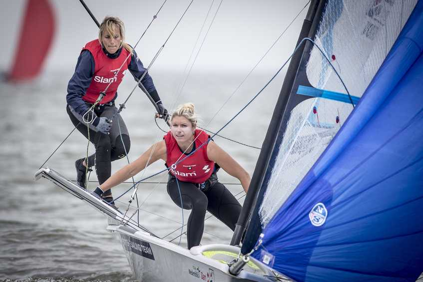 All kinds of wind condition test the sailors at the Medemblik Regatta