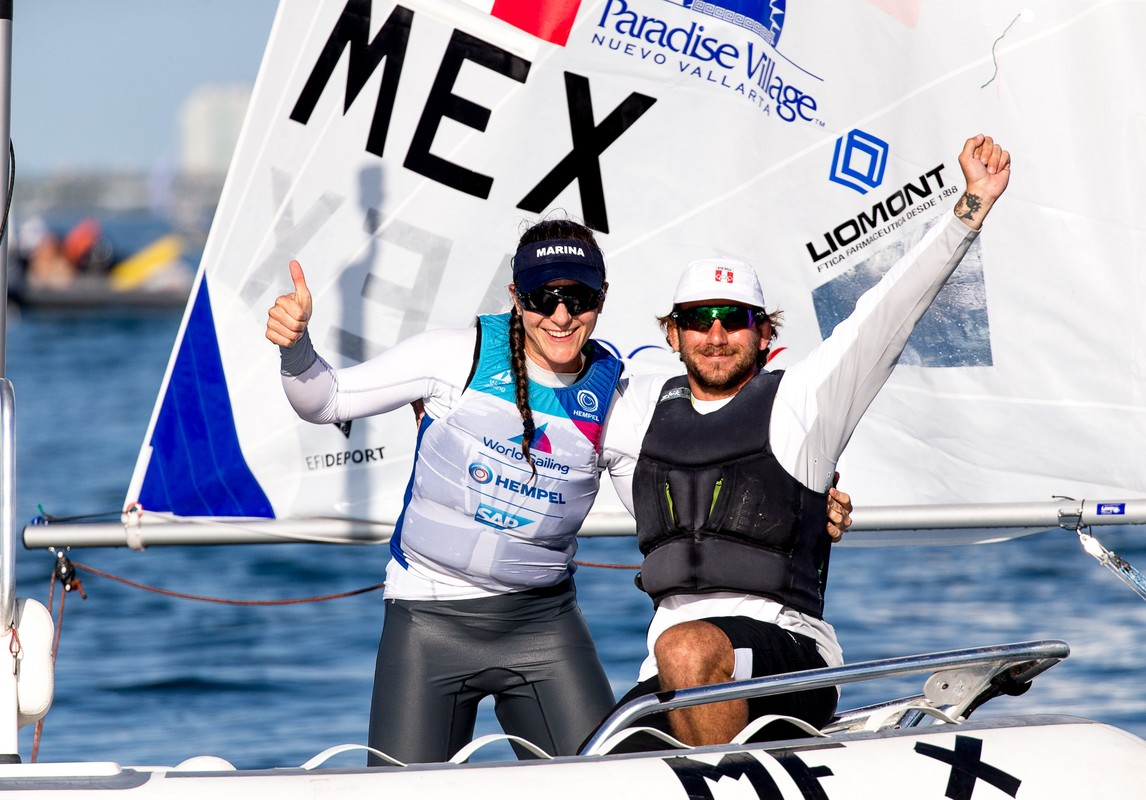 Elena Oetling of Mexico celebrates qualifying to the Tokyo 2020 Olympic Games