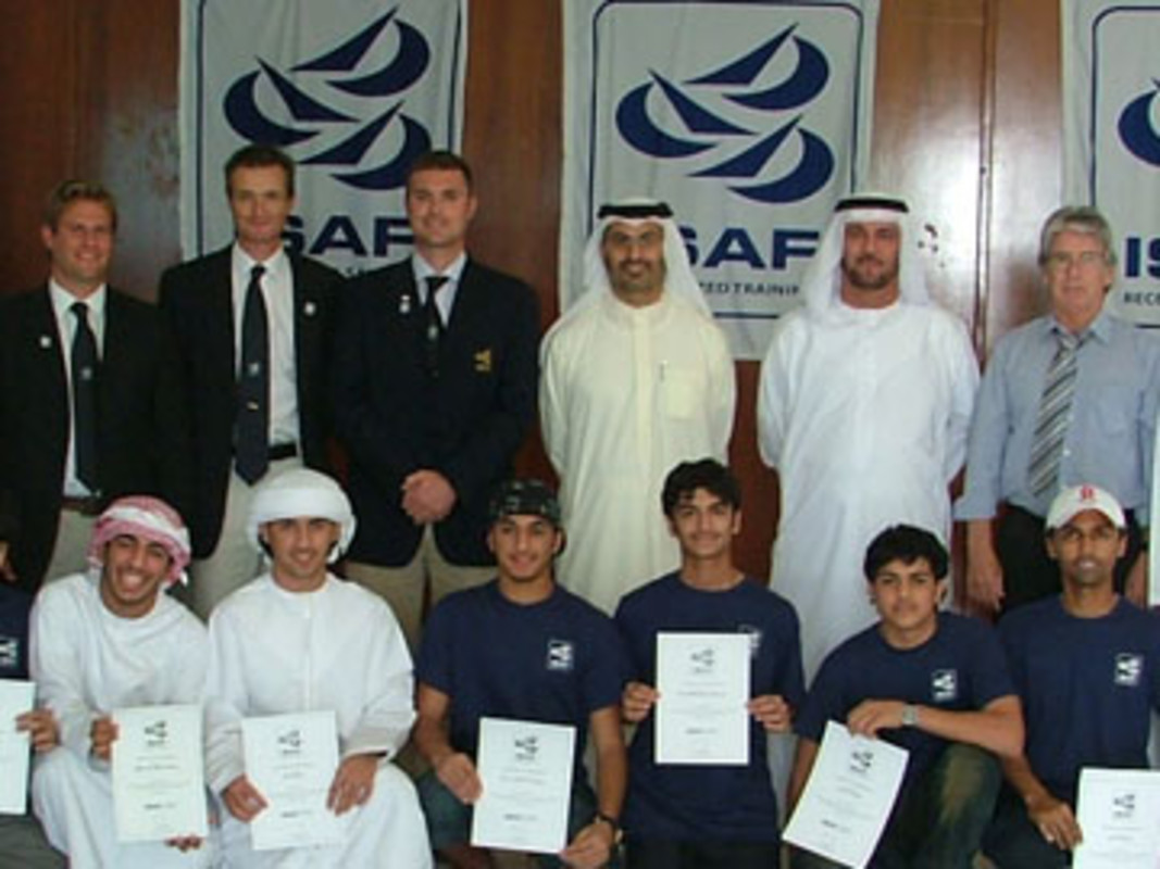 Dan Jaspers (back row, third from left) with some of the U.A.E 'Train the Trainers' Workshop participants