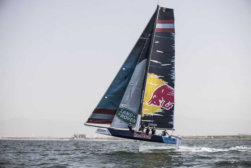 Red Bull Sailing Team and NZ Extreme Sailing Team complete the line-up for Act, 1 Muscat