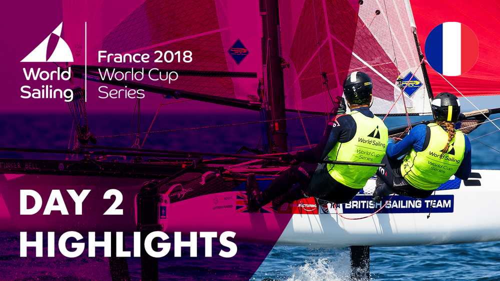 Day 2 Highlights - Sailing's World Cup Series | Hyères, France 2018