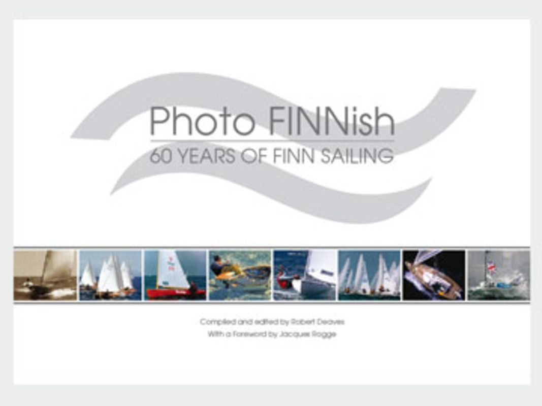 The frontcover of Photo FINNish - 60 years of Finn Sailing