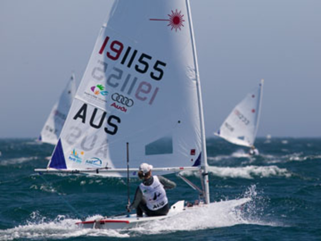 Sarah BLANCK racing in Cascais