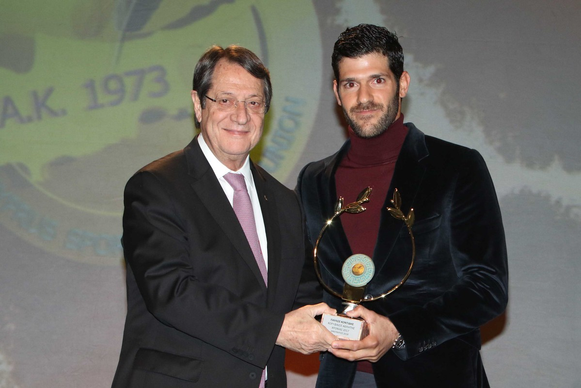 Pavlos Kontides voted as Cyprus' Athlete of the Year for fifth time