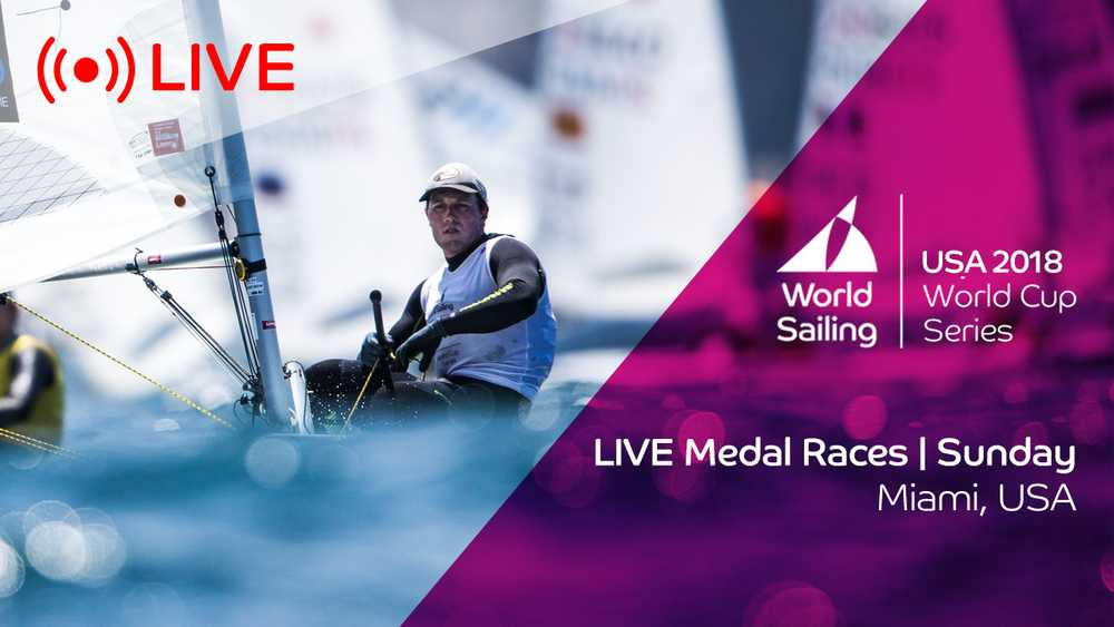 Watch LIVE: Medal Races - Sunday - World Cup Series Miami