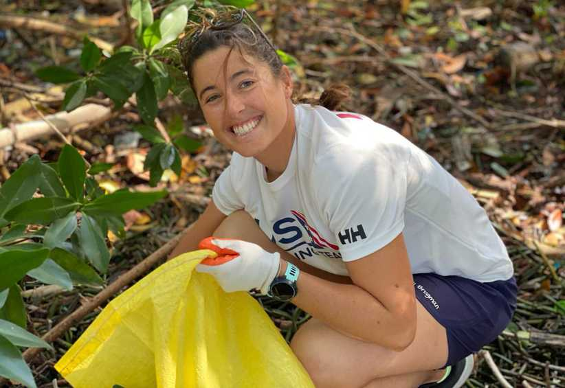 Sailors take part in mangrove clean-up at Hempel World Cup Series Miami