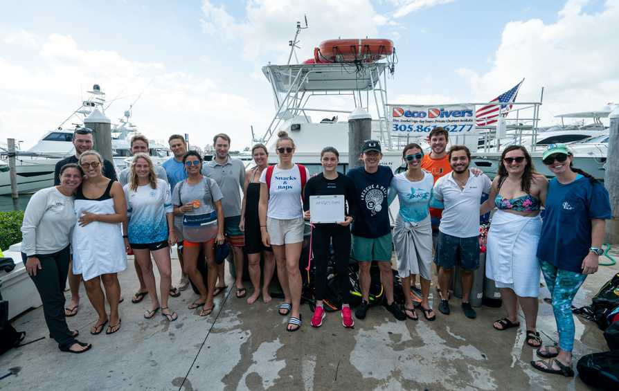 Hempel World Cup Series Miami participants team up to rescue a coral reef