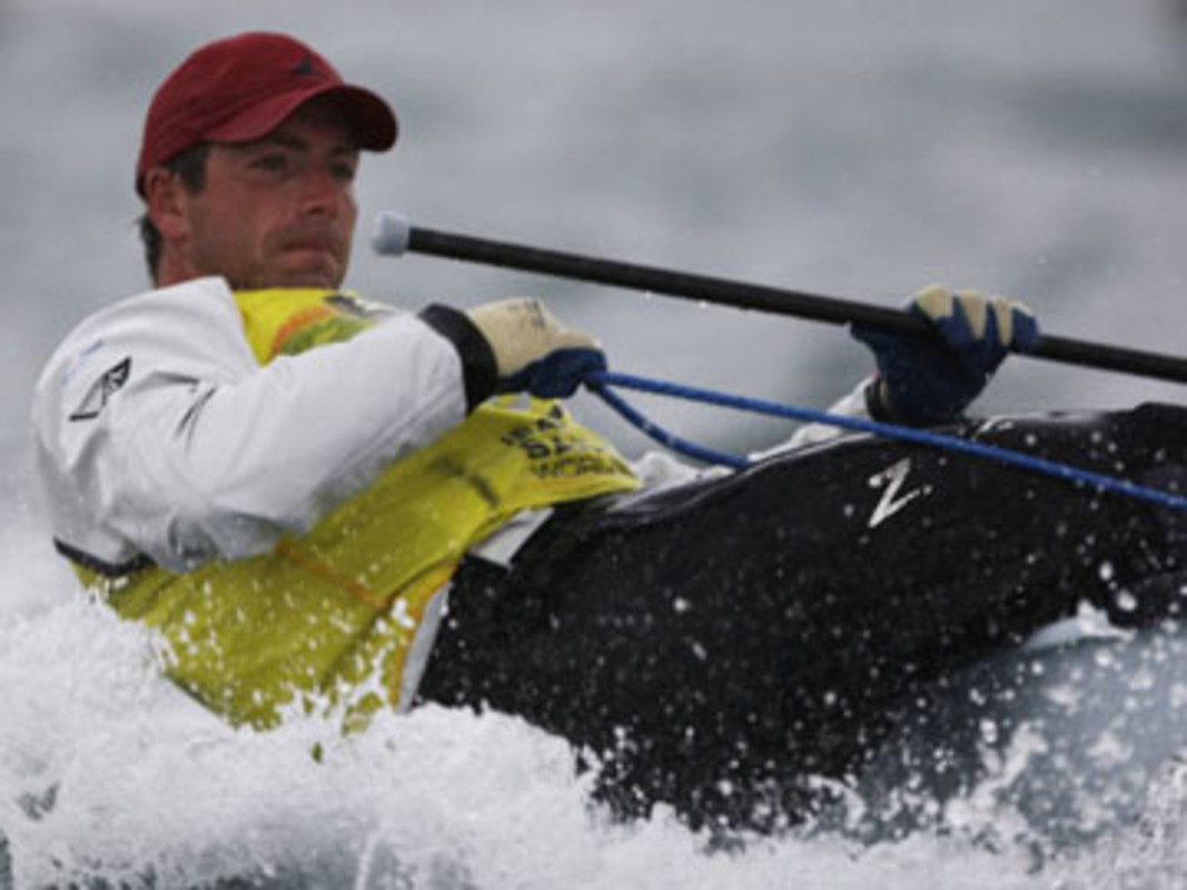 Great Britain's Finn sailor Ed Wright