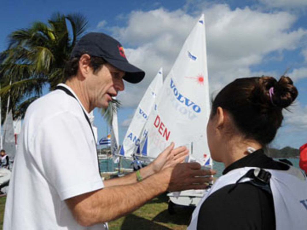ISAF Coach Santi Lange at the 2009 Volvo Youth Sailing ISAF World Championship