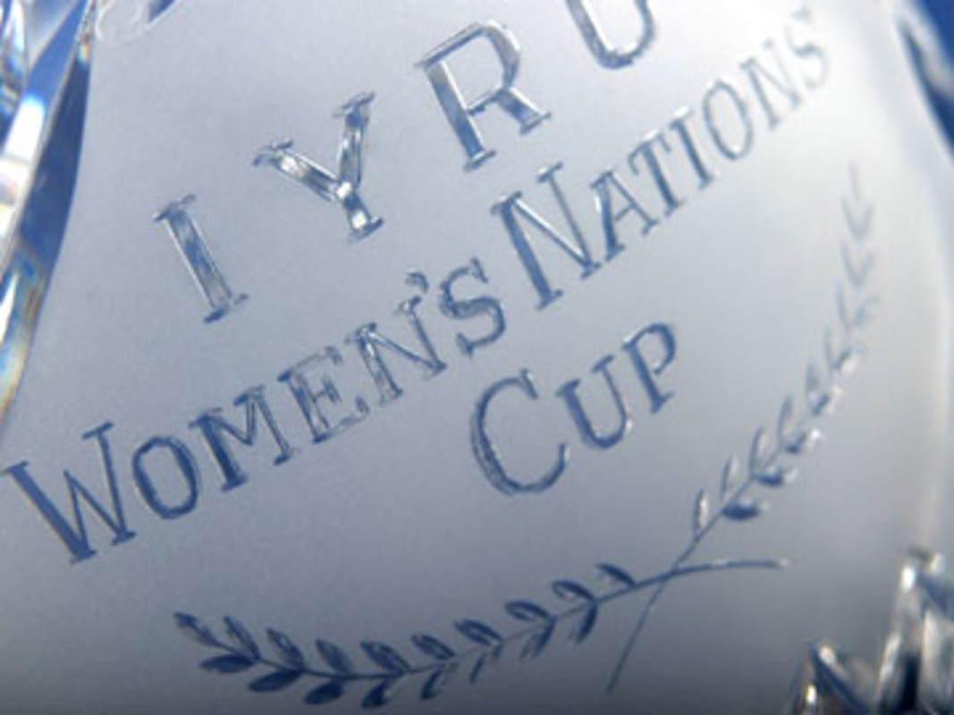 Detail of the Women's ISAF Nations Cup Trophy