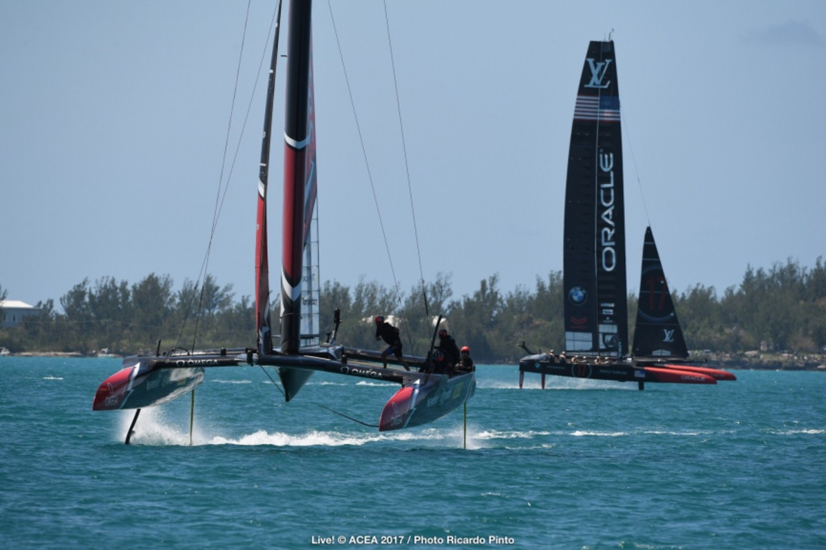 BURLING AND EMIRATES TEAM NEW ZEALAND MARCH ON BUT SPITHILL VOWS TO FIGHT BACK