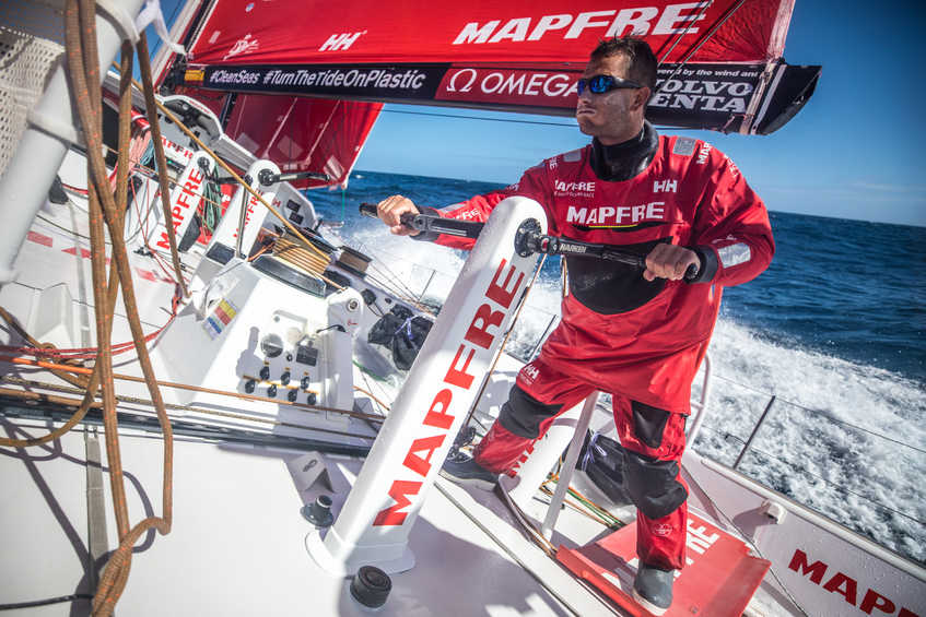 Warming up to cool down - the Volvo Ocean Race fleet dives deeper into the Southern Ocean