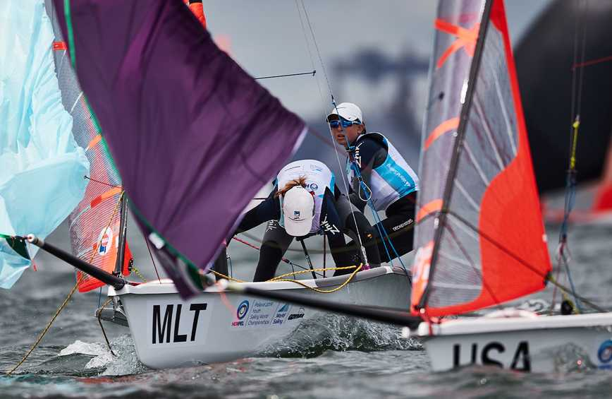 Maltese consistency hands them slender advantage at the Hempel Youth Sailing World Championships